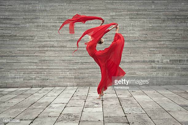 lady in red - flexibility stock pictures, royalty-free photos & images