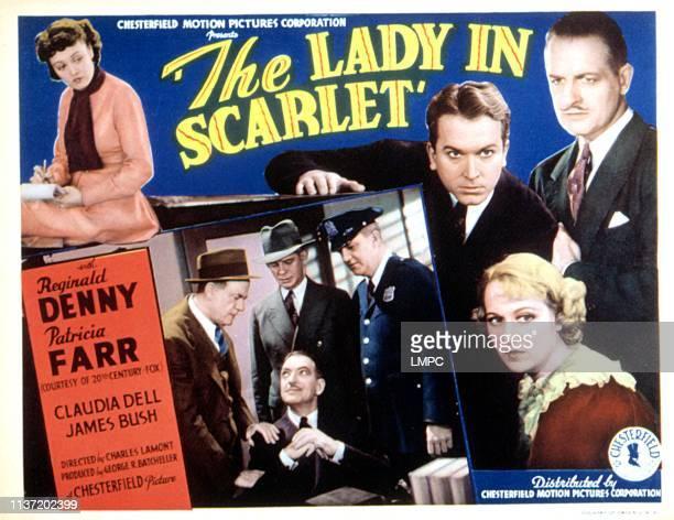 Lady In Scarlet lobbycard THE Patricia Farr Lew Kelly James Bush Claudia Dell Reginald Denny 1935