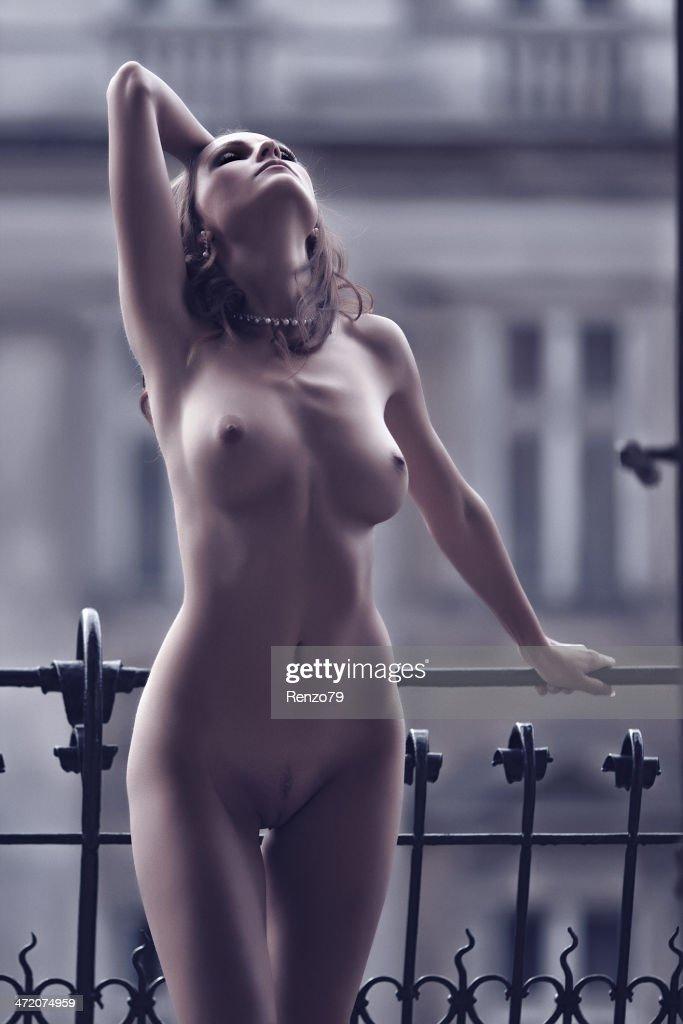 Lady na natureza : Foto de stock