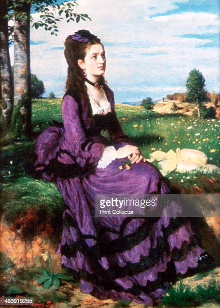 'Lady in Violet', 1874. Located in the collection at, Hungarian National Gallery, Budapest.