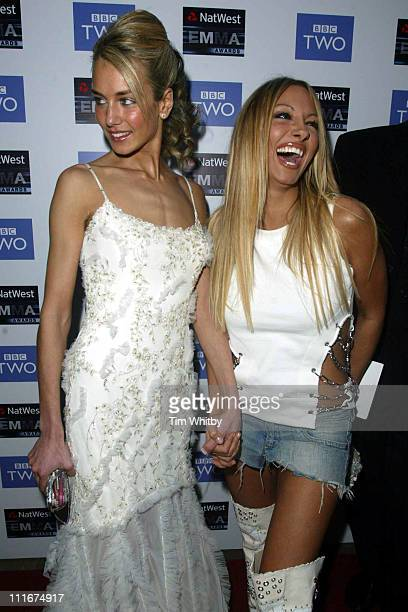 Lady Isabella Hervey and Jodie Marsh during Emma Awards Launch Party at Grosvenor House Hotel in London, Great Britain.