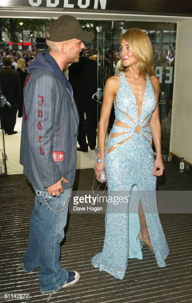 Lady Isabella Hervey and singer Matt Goss arrive at the UK Premiere of I Robot at Odeon Leicester Square August 4 2004 in London England
