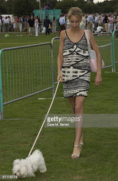 Lady Isabella Hervey attends the Cartier International Day held at Guards Polo Club Windsor Great Park on July 25 2004 in Windsor England