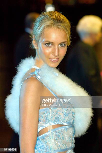 """Lady Isabella Hervey during """"Master & Commander: Far Side Of The World"""" - 2003 CTBF Royal Film Performance at Odeon Cinema, Leicester Sq in London,..."""