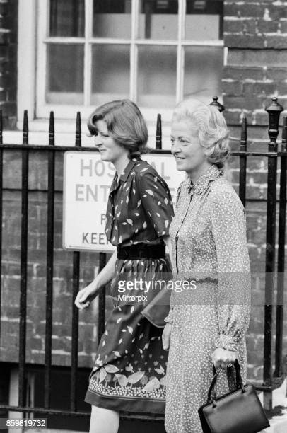 Lady Jane Fellowes and Princess Diana's mother Frances Shand Kydd visit Princess Diana at St Mary's Hospital in London after she has given birth to...