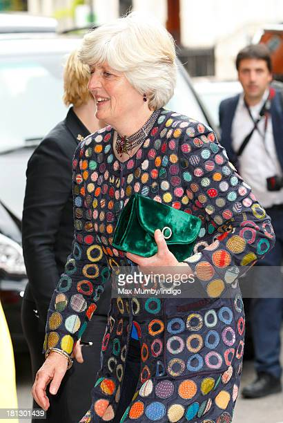 Lady Jane Fellowes arrives at Claridges Hotel to attend the wedding reception for Alexander Fellowes and Alexandra Finlay following their wedding...