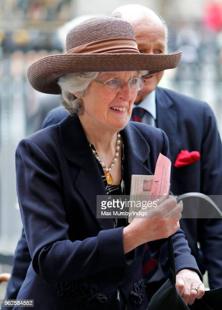 Lady Jane Fellowes attends the Service of Installation of Knights Grand Cross of The Most Honourable Order of the Bath at Westminster Abbey on May 24...
