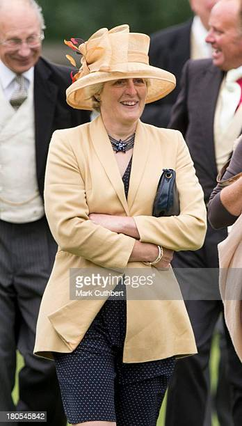 Lady Jane Fellowes attends the wedding of James Meade and Lady Laura Marsham at The Parish Church of St Nicholas in Gayton on September 14 2013 in...