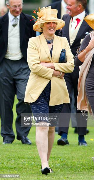 Lady Jane Fellowes attends the wedding of James Meade and Lady Laura Marsham at the Parish Church of St Nicholas in Gayton on September 14 2013 near...