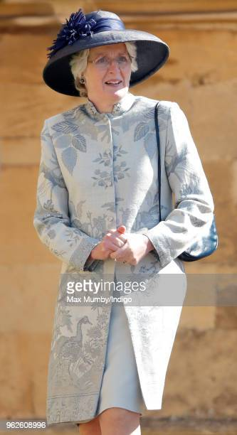 Lady Jane Fellowes attends the wedding of Prince Harry to Ms Meghan Markle at St George's Chapel Windsor Castle on May 19 2018 in Windsor England...