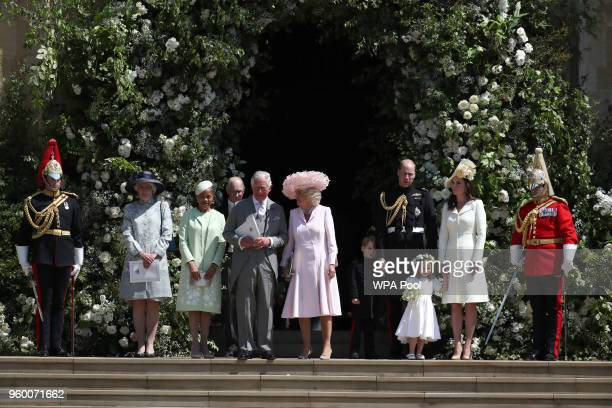 Lady Jane Fellowes Doria Ragland mother of the bride Prince Charles Prince of Wales and Camilla Duchess of Cornwall Prince William Duke of Cambridge...
