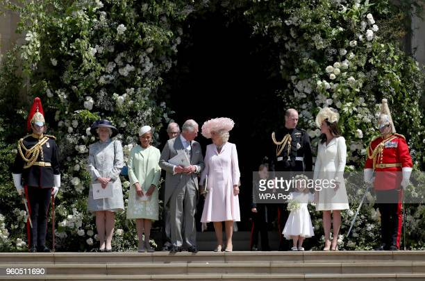 Lady Jane Fellowes, Doria Ragland, Prince Charles, Prince of Wales, Camilla, Duchess of Cornwall, Prince George of Cambridge, Prince William, Duke of...
