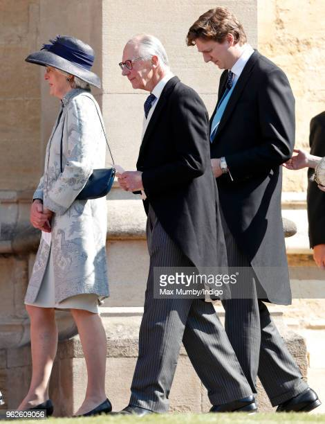 Lady Jane Fellowes Lord Robert Fellowes and Alexander Fellowes attend the wedding of Prince Harry to Ms Meghan Markle at St George's Chapel Windsor...