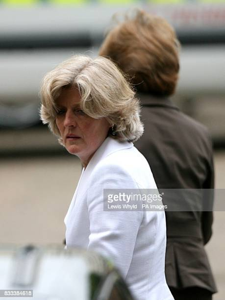 Lady Jane Fellowes sister of Diana Princess of Wales arrives for the Service of Thanksgiving for the life of Diana Princess of Wales at the Guards'...
