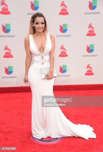 Lady Janny attends the 18th Annual Latin Grammy Awards at MGM Grand Garden Arena on November 16 2017 in Las Vegas Nevada