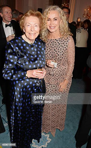 Lady Judy Martin and Angie Rutherford attend the Louis Dundas Centre Dinner at the Mandarin Oriental Hyde Park on November 26 2014 in London England