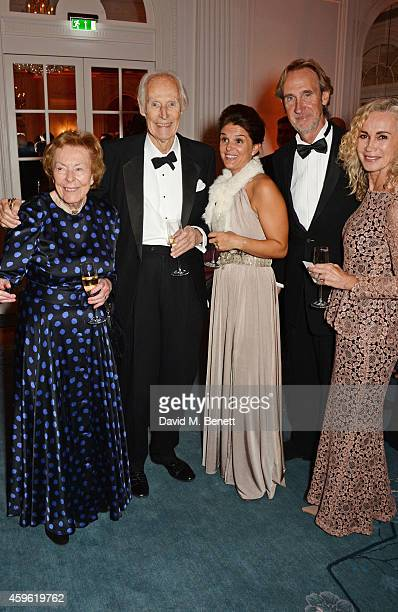 Lady Judy Martin Sir George Martin Cherie Martin Mike Rutherford and Angie Rutherford attend the Louis Dundas Centre Dinner at the Mandarin Oriental...