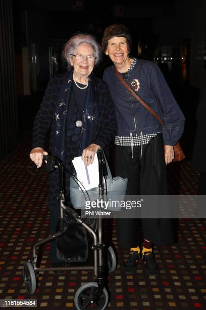 Lady June Hillary and Sarah Hillary attend the New Zealand Premiere of 'Hillary Ocean To Sky' on October 17 2019 in Auckland New Zealand