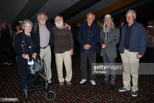 Lady June Hillary Sir Graeme Dingle Dr Jim Wilson Dr Mike Gill Waka Attewell and Michael Dillon attends the New Zealand Premiere of 'Hillary Ocean To...