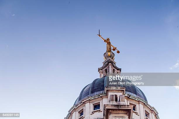 lady justice on the old bailey, london, england. - lady justice stock pictures, royalty-free photos & images