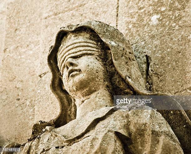 Lady Justice sandstone portrait