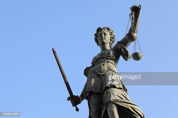 Lady Justice statue with scale and sword