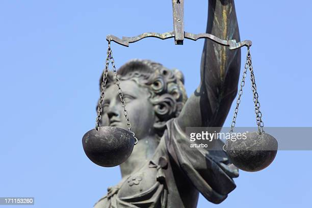 Lady Justice with scale side view