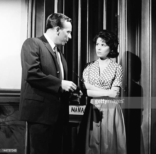"Lady Killer"" Episode 3 -- Pictured: Norman Fell as Det. Meyer Meyer, Barbara Parkins as Mary --"