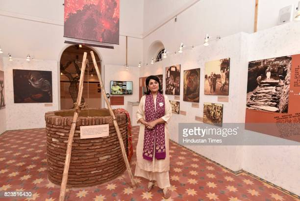 Lady Kishwar Desai during the Partition Museum inauguration on October 24 2016 in Amritsar India A newly opened Partition Museum in Amritsar revisits...