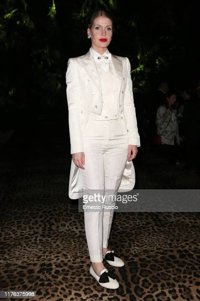 Lady Kitty Eleanor Spencer attends the Dolce Gabbana fashion show during the Milan Fashion Week Spring/Summer 2020 on September 22 2019 in Milan Italy