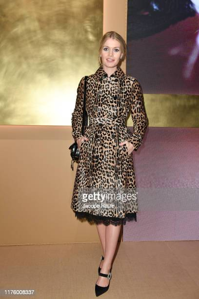 Lady Kitty Spancer attends the Tod's fashion show during the Milan Fashion Week Spring/Summer 2020 on September 20, 2019 in Milan, Italy.