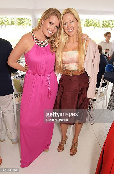 Lady Kitty Spencer and Belinda deLucy McKeeve attend the Flannels for Heroes charity cricket match and garden party hosted by menswear brand Dockers...