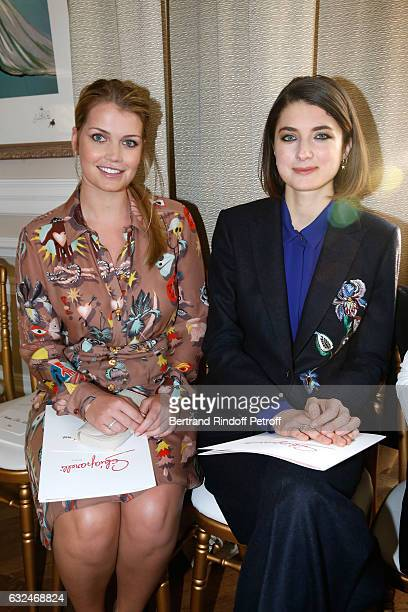 Lady Kitty Spencer and Daisy Bevan attend the Schiaparelli Haute Couture Spring Summer 2017 show as part of Paris Fashion Week on January 23 2017 in...