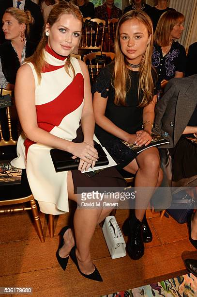 Lady Kitty Spencer and Lady Amelia Windsor attend as Christian Dior showcases its spring summer 2017 cruise collection at Blenheim Palace on May 31...