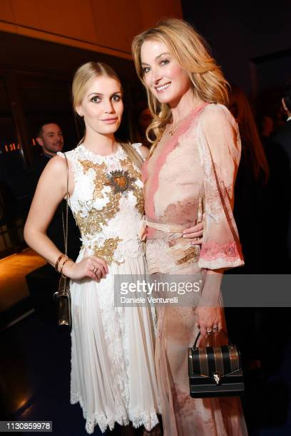 Lady Kitty Spencer and Lilly Zu Sayn Wittgenstein attend the Bvlgari BZERO1 XX Anniversary Global Launch Event at Auditorium Parco Della Musica on...