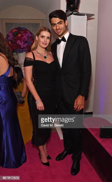 Lady Kitty Spencer and Matteo Bocelli, wearing Bvlgari, attend the Bvlgari FESTA Gala Dinner at Banqueting House on May 12, 2018 in London, England.