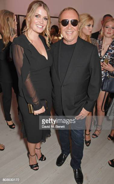 Lady Kitty Spencer and Michael Kors attend Tatler's English Roses 2017 in association with Michael Kors at the Saatchi Gallery on June 29 2017 in...