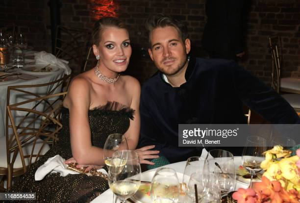 Lady Kitty Spencer and Richard Dennen attend the Bvlgari Serpenti Seduttori launch at the Roundhouse on September 15, 2019 in London, England.