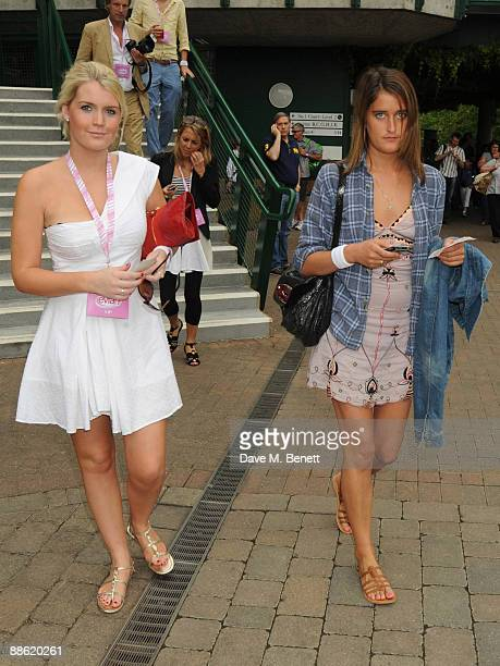 Lady Kitty Spencer and Violet Von Westenholz attend the 'Evian Celebrity Hospitality Marque at Wimbledon on June 22 2008 in London England