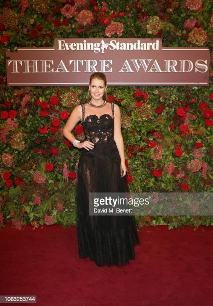 Lady Kitty Spencer arrives at The 64th Evening Standard Theatre Awards at the Theatre Royal Drury Lane on November 18 2018 in London England