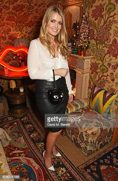 Lady Kitty Spencer attends as Lulu Guinness Jasmine Guinness celebrate Christmas with friends at Upstairs 5 Hertford Street on December 7 2016 in...