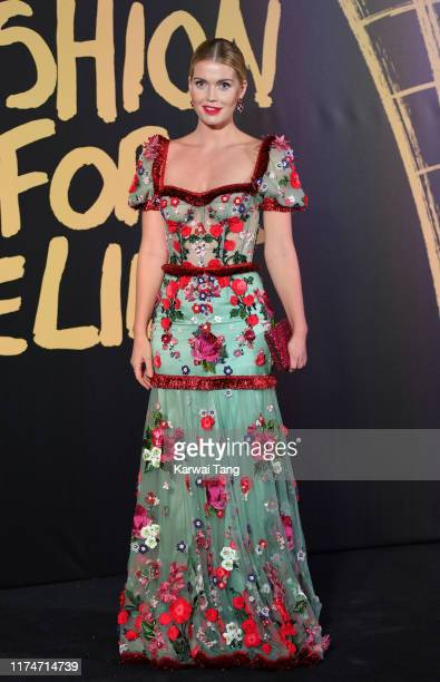 Lady Kitty Spencer attends Fashion For Relief London 2019 at The British Museum on September 14 2019 in London England