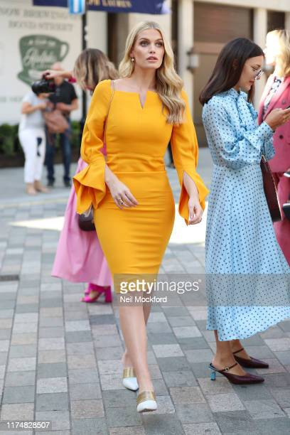 Lady Kitty Spencer attends Roland Mouret at Royal Academy of Arts during LFW September 2019 on September 15, 2019 in London, England.