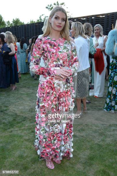 Lady Kitty Spencer attends the annual summer party in partnership with Chanel at The Serpentine Pavilion on June 19 2018 in London England