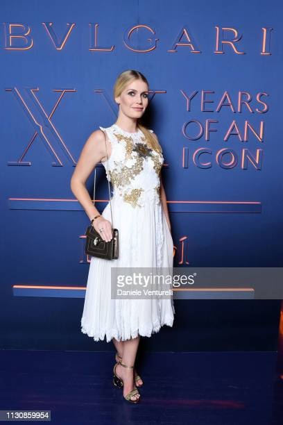 Lady Kitty Spencer attends the Bvlgari BZERO1 XX Anniversary Global Launch Event at Auditorium Parco Della Musica on February 19 2019 in Rome Italy