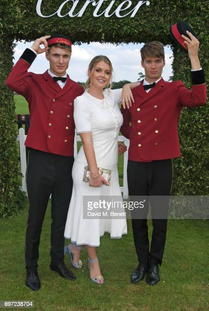 Lady Kitty Spencer attends the Cartier Queen's Cup Polo final at Guards Polo Club on June 18 2017 in Egham England