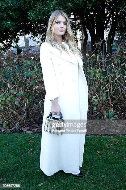 Lady Kitty Spencer attends the Christian Dior Haute Couture Spring Summer 2016 show as part of Paris Fashion Week on January 25 2016 in Paris France