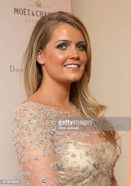 Lady Kitty Spencer attends The Downton Abbey Ball at The Savoy Hotel on April 30 2015 in London England