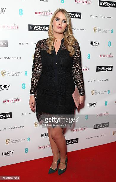 Lady Kitty Spencer attends the InStyle EE Rising Star PreBAFTA Party at 100 Wardour Street on February 4 2016 in London England
