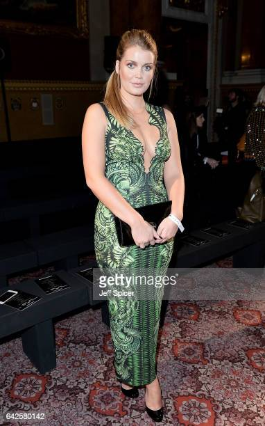 Lady Kitty Spencer attends the Julien Macdonald show during the London Fashion Week February 2017 collections on February 18 2017 in London England